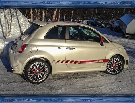 fiat 500 roof spoiler abarth style pur