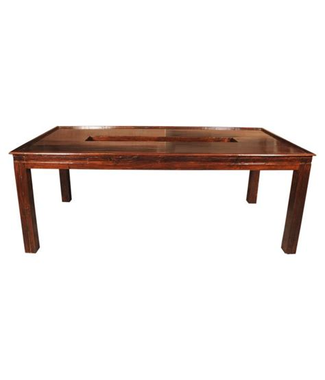 sheesham wood dining table sheesham wood royale stand alone dining table buy rs 36540 snapdeal