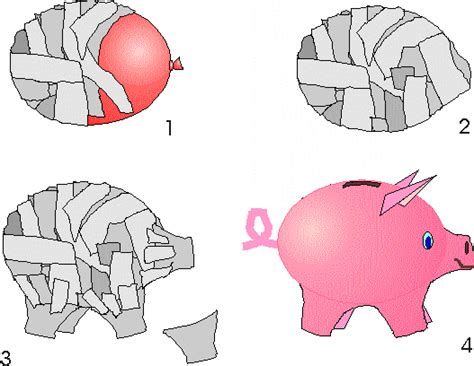 How To Make Paper Piggy Bank - papiermache