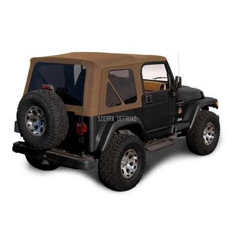 1998 Jeep Wrangler Soft Top Replacement Jeep Wrangler Tj Soft Top 1997 2002 Tinted Windows Spice