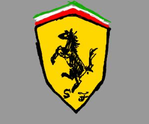 ferrari logo sketch ferrari logo black horse on yellow drawing by magicsyrup