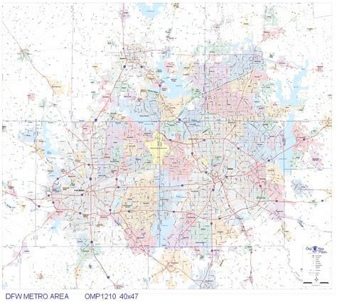 map of dallas area dallas fort worth metro area 40x47