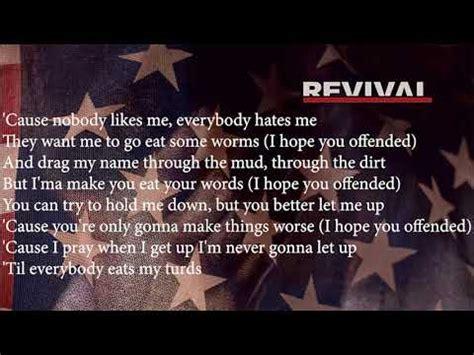 eminem offended lyric eminem offended fast part lyrics youtube