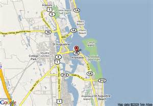 st augustine florida on map map of inn augustine