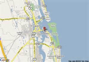 st augustine map florida map of inn augustine