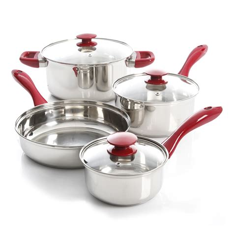 Set Supra7 Stainless oster 7 stainless steel cookware set silver and shop your way