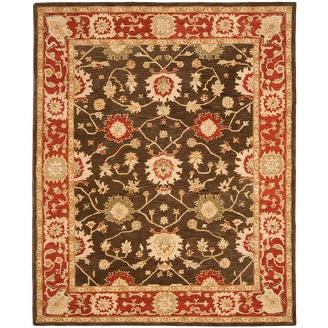 Home Depot Area Rugs 9 X 12 Safavieh Anatolia Olive Rust 9 Ft X 12 Ft Area Rug An554a 9 The Home Depot