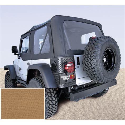 97 Jeep Wrangler Accessories Soft Top Door Skins Spice Clear Windows 97 02 Jeep