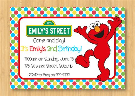 elmo birthday card template elmo printable birthday invitation 5 by thedapperfoxdesigns