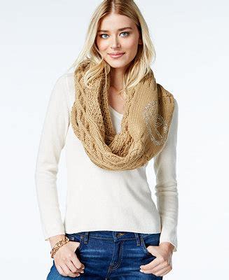 michael michael kors logo cable infinity scarf handbags