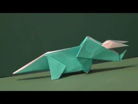 Origami Dinosaur Triceratops - 恐竜 トリケラトプス 折り紙dinosaur quot triceratops quot origami