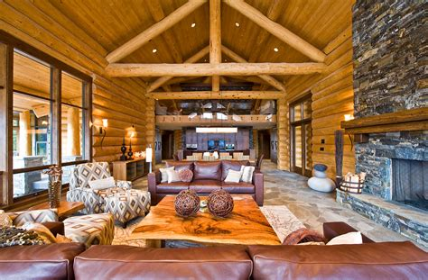 log cabin furniture and decor living room shabby chic