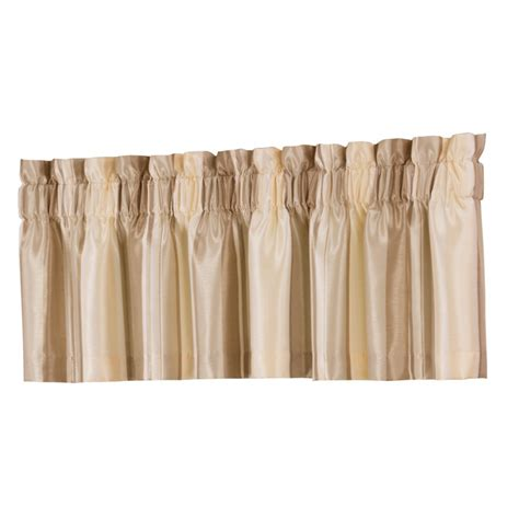 Valances Lowes shop allen roth 18 in l ivory alison tailored valance at lowes