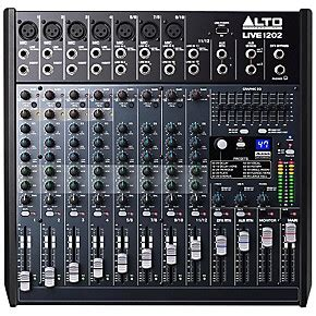 Mixer Alto Live 1202 alto live 1202 12 channel 2 mixer guitar center
