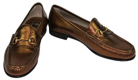 new 640 gucci leather light bronze bit shoes loafers 38 5 8 5 ebay