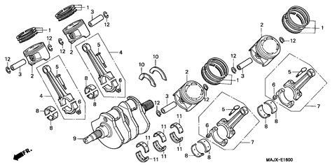 crankshaft diagram st1100 parts fiche crankshaft pistons st1100m