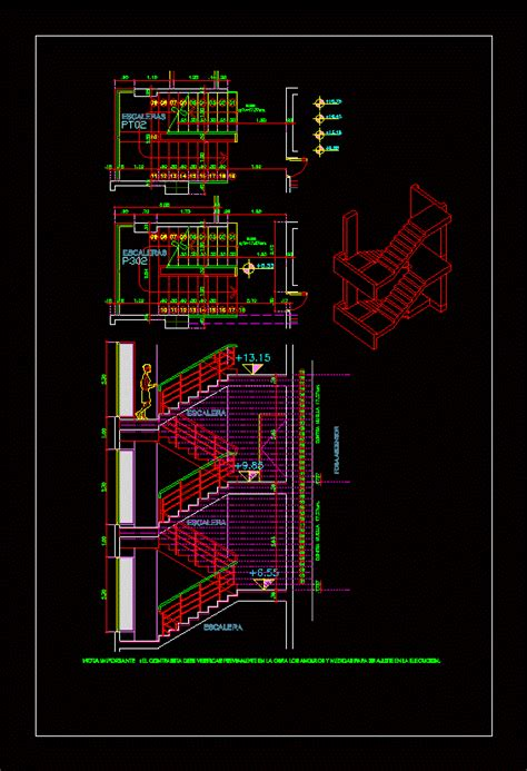 reinforced concrete staircase detail dwg detail for