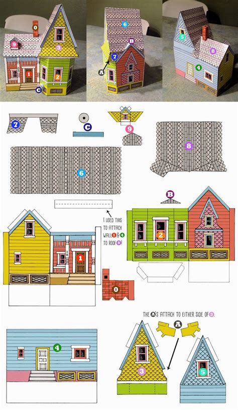 printable house paper peach bum up house printable template up party