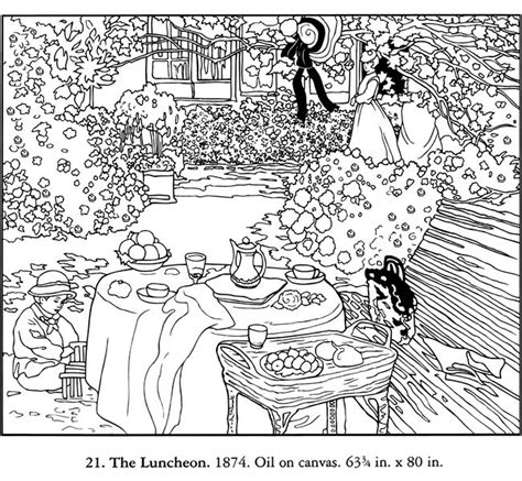free coloring pages of impressionist