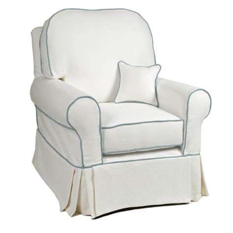 little castle glider slipcover basket white slipcovered buckingham glider and upholstered