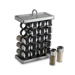 Stainless Steel Spice Rack Olde Thompson 20 Jar Spice Organizer In Stainless Steel