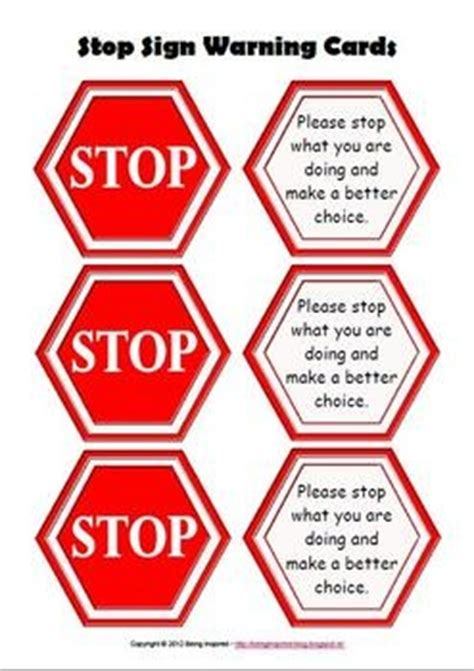 How To Make A Stop Sign Out Of Paper - 25 best ideas about behavior cards on