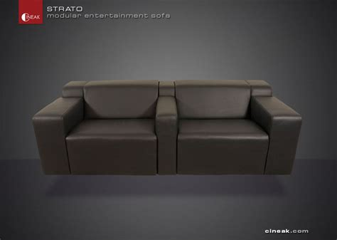 entertainment sofa cineak strato modular entertainment sofa modern