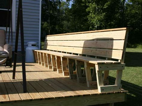 deck benches with backs planning ideas great deck bench plans deck bench plans