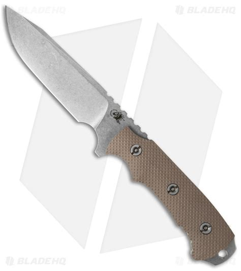 hinderer fixed blade hinderer knives fieldtac 5 5 quot fixed blade knife fde g 10