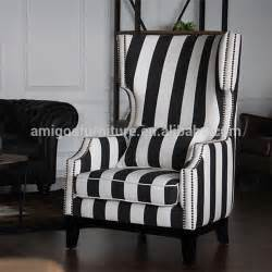 black white damask and stripe dining chair cover set of 2 image
