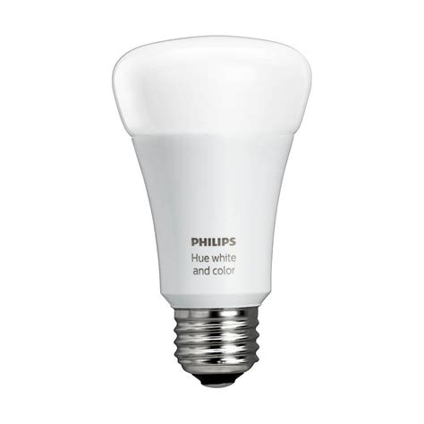 smart led light bulbs philips hue white and color ambiance a19 60w equivalent