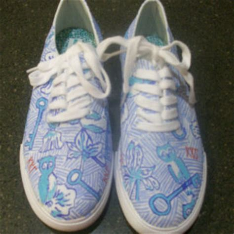 lilly pulitzer inspired canvas shoes from jessschmitty on