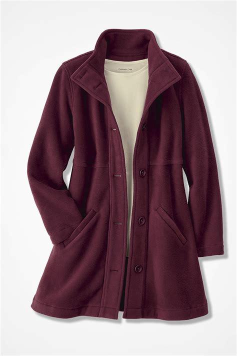 Fleece Coat a line fleece coat coldwater creek