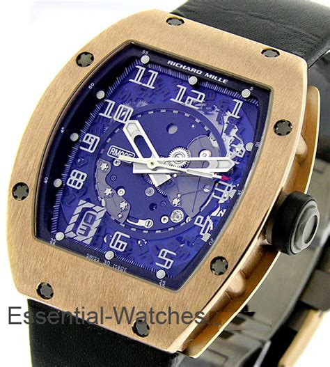 Richard Mille Rubber Black Rosegold Automatic rm 005 richard mille rm 05 gold essential watches