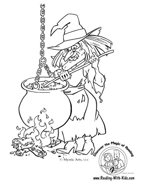 scary halloween witch coloring pages halloween
