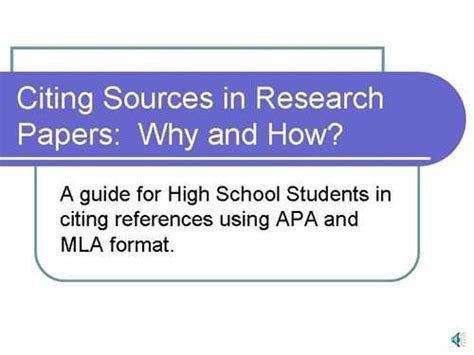 Citing Sources In A Research Paper by Citing Sources In Research Papers Of Oregon