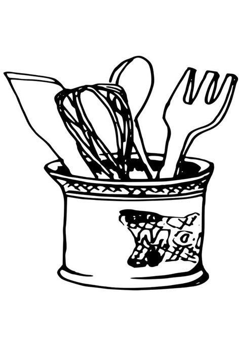 coloring pictures kitchen utensils coloring page kitchen utensils img 19079 coloring home
