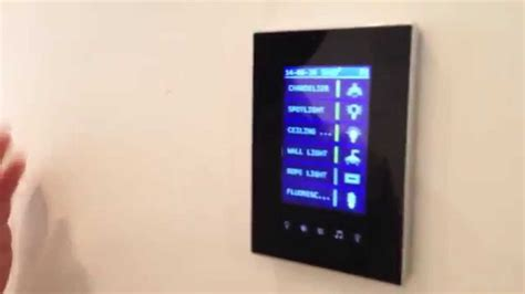 tft43 smart home automation touch panel