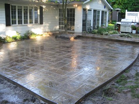 stamped concrete ideas Entry Rustic with chicago concrete