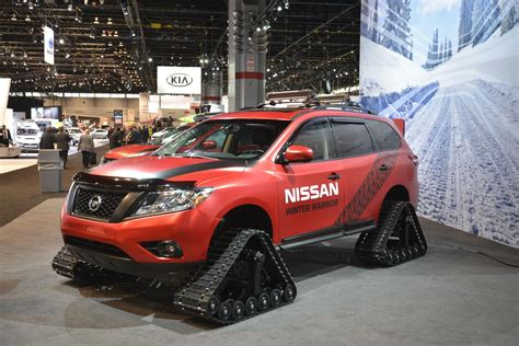 nissan winter nissan s winter warrior concepts are suv sized snowmobiles