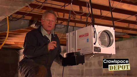 mega dry dehumidifier from crawlspace depot youtube