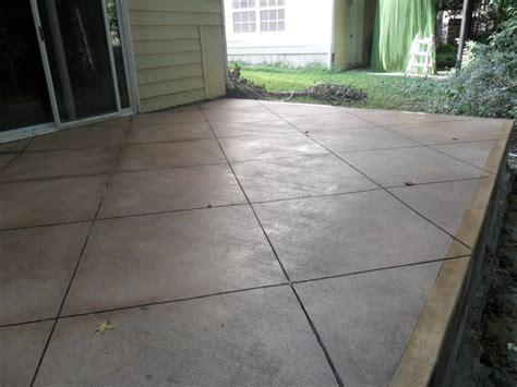 scored concrete patio colored concrete with scoring backyard dreaming