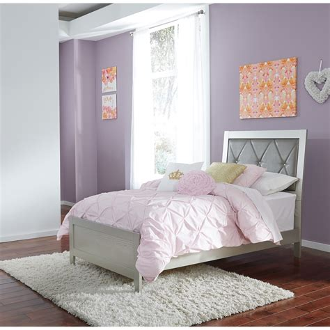 twin bedroom sets with mattress signature design by ashley olivet glam twin panel bed with
