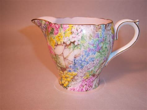 Shelley Rock Garden Shelley Rock Garden Gold Trim Creamer From Grandviewfinetableware On Ruby