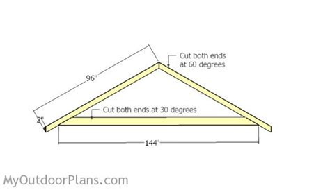 Shed Roof Trusses by Step 3 How To Build Shed Trusses Hairstyles