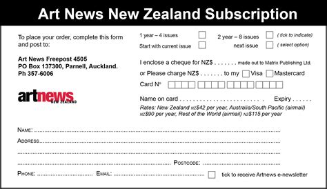 Credit Application Forms Nz Subscribe News New Zealand