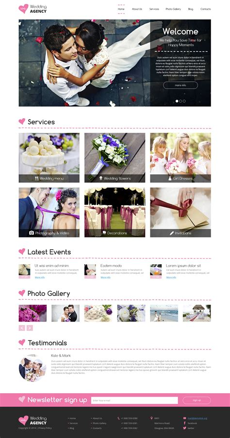 drupal themes clothing wedding planner drupal template 49525