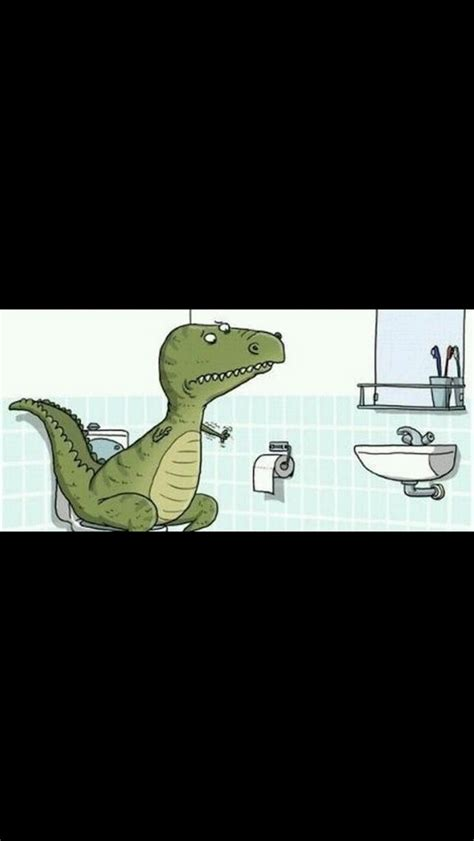 t rex bathroom because t rex can t wipe his bum why is t rex sad
