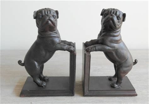 pug bookends set of 2 pug bookends even modern vintage style