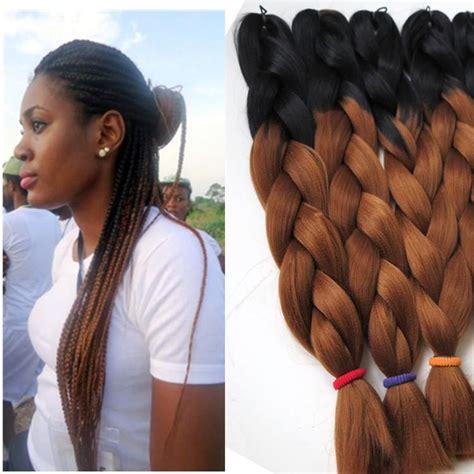 ombre micro braiding hair kanekalon ombre synthetic braiding hair 24inch 100g black